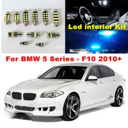 Wholesale Bmw 535i - WLJH 19x White Canbus Dome Footwell Trunk Lighting Bulb LED Car Interior Light Kit for BMW F10 5 Series 2010+550i 535i 528i M5