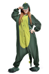 Wholesale Woman Bear Costume - Unisex Dinosaur Grass Bear Kigurumi Pajamas Adult Animal Onesie Cosplay Outfit Anime Costume Cartoon Jumpsuits Sleepwear for Women and Men