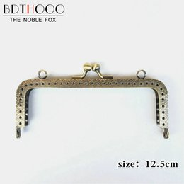Kissdiy 10 Pcs 8.5cm Metal Purse Frame Antique Bronze Candy Pearl Kiss Clasp Metal Coin Pattern Diy Bag Accessorie Luggage & Bags