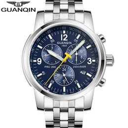 Wholesale Guanqin Watches - Mens Watches Top Brand Luxury GUANQIN Watch Men Automatic Self-Wind Luminous Clock Sport Full Steel Wristwatch relogio masculino