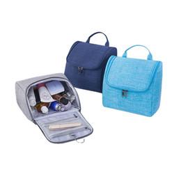 Косметический бизнес онлайн-Popular 2018 Waterproof Travel Cosmetic Case Women & Men Large Capacity WPouches Hanging With Hook Business Toiletries Bags