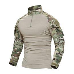 Camisa de camuflaje táctico de tiro con almohadillas para el codo entrenamiento de tiro al aire libre para hombres, paintball, uniformes de manga larga T-shi desde fabricantes