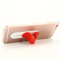 Wholesale fix phones - Cheap Cell Phone Holder Universal Multi-band Colorful U-shaped Grip Finger Ring Holder Multi-functional Back Paste Fixed Bracket