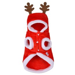 niedlich plus größe winter mäntel Rabatt 2018 Winter Mantel Kleidung Weihnachten Hund Kleidung Santa Kostüm Haustier Hund Weihnachten Kleidung Cute Puppy Outfit für Hund plus Größen D1