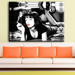 2020 портреты в спальне ZZ662 черный белый и красный холст печатает искусство Криминальное чтиво портрет холст картины маслом для гостиной спальня декор скидка портреты в спальне
