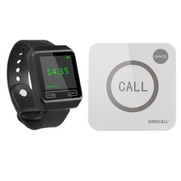 Sistema de servicio de llamadas de restaurante inalámbrico SINGCALL 1 reloj de pantalla grande y 1 botón táctil desde fabricantes