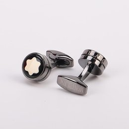 Wholesale High quality MB Cufflinks For Men shirt Cuff Buttons Jewelry Fashion Brand Copper Cuff Links For Christmas Gift have Box Star patt