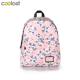 Wholesale girls backpacks panda - Kawaii Cartoon Panda Backpack For Teenage Girls Children School Bags Women Shoulder Bags Student School Backpack Kids Bookbag