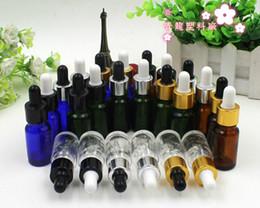 Wholesale Cosmetic Dropper Bottles - 10ml glass high-grade plastic head oil dropper bottle points bottling cosmetic trial 15pcs lot