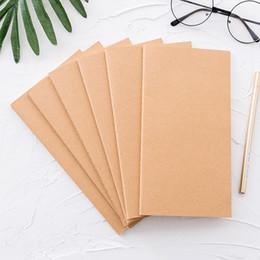 Argentina Papel Kraft Relleno del cuaderno Insertos de papel Cuadrícula de puntos en blanco Bloc de notas Diario Diario Cuaderno del viajero Planificador de recarga Organizador Suministro