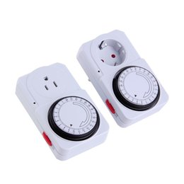 timer power sockets 2018 - ccessories Parts Electrical Socket Plugs Adaptors New 24 Hour Energy Saver Mechanical Electrical Plug Program Timer Power Switch EU PlugW...