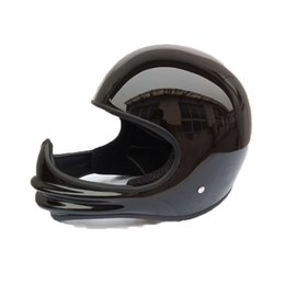 Wholesale Helmet Motorcycle Bikers - FRP motorcycle vintage retro full face helmet for dirt dirt cross biker safe protective drop shipping cool funny gost style
