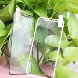 Wholesale Cellphone Screen Protectors - For iPhone X 9H Hardness Tempered Glass Full Cover 2.5D Cellphone Screen Protectors with Soft EDGE for Samsung Apple 6 6s 7 8 Plus