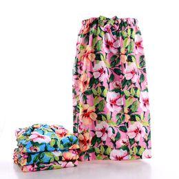 Wholesale Flower Hair Dryer - Water absorption Bath skirt towel dry Hair cap two sets of printing Towel not easy to fade Beautiful flower pattern women