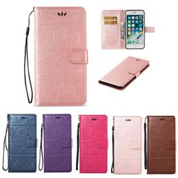 слоновая кошелек для телефона Скидка Отпечаток Слон Флип-карта Слот Бумажник Кожаный чехол Чехол для телефона для iPhone XS Max XR 8 7 6S Plus Samsung S8 S9 S10E Plus Note 9