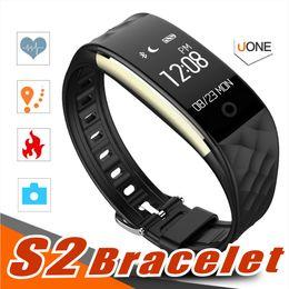S2 relojes baratos online-2018 Ritmo cardíaco dinámico S2 Smartband rastreador de ejercicios Contador de pasos Smart Watch Band Vibración pulsera para ios android pk ID107 fitbit tw64