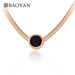 2019 disques ronds en acier inoxydable Toute la venteBaoyan Fashion en acier inoxydable 316L or rose noir