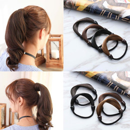 Wholesale Korean Wigs Women - Girl Modern Woman Korean Style Hair piece accessories Rope Hairband Accessories Synthetic Wig Elastic Headwear.25pcs