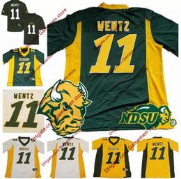 Wholesale Womens Boys Shorts - NCAA NDSU Bison #11 Carson Wentz Mens Youth Womens Yellow Gold Green White Stitched North Dakota State College Football Jerseys S-3XL