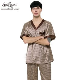 9a092b2c68 SpaRogerss Mens Pajama Set 2017 Summer Brand Design Luxury Men Leisure 2  Pcs Pajamas Pants Home Suit Clothing Sleep Lounge TZ165