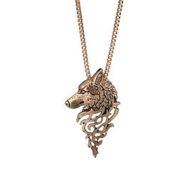schöne schmuck für männer Rabatt Wolf Halskette Rune Amulett Anhänger Halskette Glück Segen Schmuck Coole Punk Schönes Geschenk für Liebhaber Freunde Frauen Männer Wolf Kette Halskette