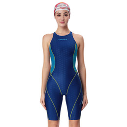 118cc60844 Yingfa one piece competition knee length waterproof women s swimwear  sharkskin swimsuit sport racing training swimming suit