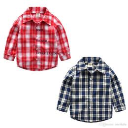 3b1446c18e93 Boys Girls Shirt Spring Autumn Baby Tops Toddler Plaid Shirt Blouse Children  Lapel Long Sleeves Shirt Cotton Kids Clothing YFA431 discount boys full  fashion ...