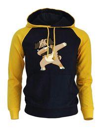 Мужчины онлайн-Dabbing Pug Cartoon Hoodies Men Hip Hop Dog Funny Sweatshirt 2018 Autumn Winter  Hoodie Male Punk Hoody Men's Sweatshirts