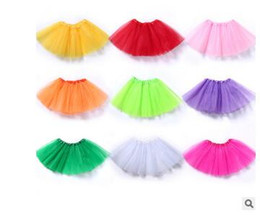 Wholesale kids ballet clothes - Top Quality candy color kids tutus skirt dance soft tutu ballet skirt princess skirt 3layers children pettiskirt clothes .