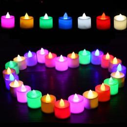 2019 velas de tealight led sem chama LED Vela Gadget 3.5 * 4.2 cm Chama LED Candelabro de Natal Sem Luz de Natal Festa de Aniversário Decoração de Natal 24 pçs / caixa USZ161 velas de tealight led sem chama barato