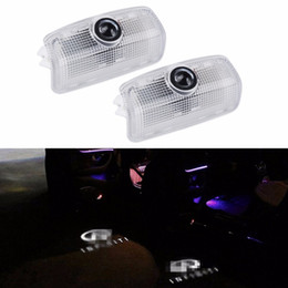 3d shadow lights Coupons - 2PCS HD brightness car 3D ghost shadow lamp auto camry door logo light bulb welcome projector light for Infiniti