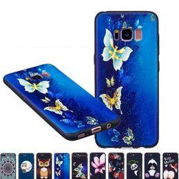 Cassa del telefono del silicone del silicone della farfalla molle del fiore Panda Copertura del telefono del telefono della copertura del fumetto per il iphone XS Max XR X 8 più Galaxy S9 Huawei P20 Lite da cassa del telefono del gufo del fumetto fornitori