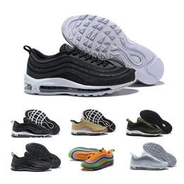 newest 43e72 b3608 nike air max Nuovi uomini di alta qualità Cuscino 97 Scarpe da corsa basse  traspiranti Scarpe da massaggio economiche Scarpe da ginnastica piatte 97s