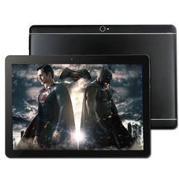 Tela grande 10.1 polegada Android 7.0 Tablet Octa Núcleo de 4 GB de RAM 32 64 128 GB ROM dual sim WiFi FM IPS Telefonema GPS Tablets + presentes cheap large screen dual sim phones de Fornecedores de telefones celulares de tela grande dual sim