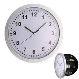 1 pieza 25 cm redondo Secreto Oculto Reloj de pared Dinero seguro Alijo Joyas Cosas Contenedor Colck desde fabricantes
