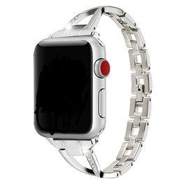 Браслет с бриллиантами онлайн-Роскошный бриллиантовый браслет из нержавеющей стали для браслета Apple Watch серии 1 2 3 ремешок из нержавеющей стали Iwatch 38 мм 42 мм