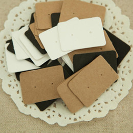 Wholesale Earring Package Card - Wholesale- 50Pcs lot 2.5*3.5cm Jewelry Earring Ear Studs Hanging Holder Display Hang Paper Cardboard Cards Kraft Paper Package For Party
