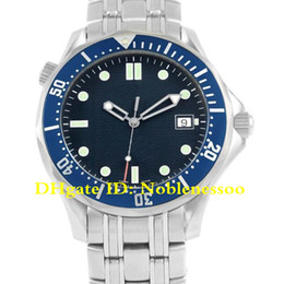 James bond relógio azul on-line-4 Color Mens Luxury Watch 41mm Blue Wave Dial Steel Watch 2531.80.00 Professional James Bond 007 300M Professional Automatic Men's Watches