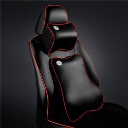 gestrickte autositzbezüge Rabatt Auto-Lordosenstütze Lordosenstütze Zurück Memory-Kissen und Taillenset passen für alle Autos für vier Seasson, Memory-Leder