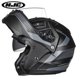 2019 xl motocicleta capacetes dupla viseiras HJC IS-MAX II Flip Up Capacete Motocross Capacete Elétrico Motocross Capacete Elétrico dupla viseira e capacete da motocicleta capacete desconto xl motocicleta capacetes dupla viseiras