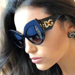 Designer de luxe marque lunettes de soleil pour femmes dames surdimensionné diamant cadre cadre en plein air miroir 2019 nouvelle mode lunettes de soleil pour femme UV400 ? partir de fabricateur