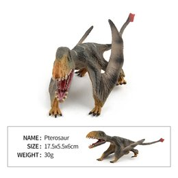 Wholesale wholesale dinosaur toys - The New Plastic Dinosaur Cartoon Model Pterosaurs Jurassic Dinosaur Toys Plastic Dolls Animal Collectible Model Furnishing Toy Gift