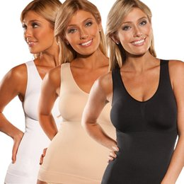 Wholesale Beige Cami - 2017 Woman Body Shapewear Abdomen in Seamless Shaping Cami Shaper Tank Top Slimming Long Sexy Cami Shaper Features Ladies Body Corset Vest