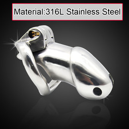 Wholesale Bdsm Steel Lock - 2016 Health 3Male 316L stainless steel BDSM Luxury ultimate standard Cage version Chastity Locking Device Sex Toys For Men A257