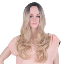 """Длинные черные волосы волна тела онлайн-Mtmei волос 20 """" Body Wave длинные волосы парик для чернокожих женщин ломбер блондинка черный коричневый синтетический косплей парики"""