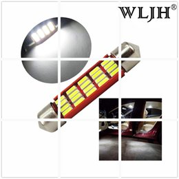 Wholesale Auto Cadillac - WLJH CANBUS 211-2 Auto Car 41mm LED Interior Festoon Dome Map Trunk Light Source for Cadillac Escalade EXT ESV Deville Dts