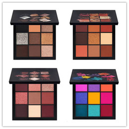 Wholesale full size warmer - HOT matte Eye Shadow Palette 9 color Beauty eyeshadow palettes Makeup smokey mauve electric warm brown IN STOCK Free shipping