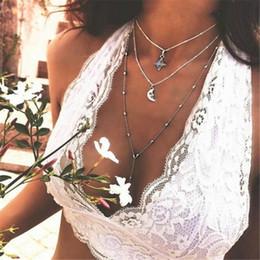 Collar de múltiples capas de la luna de Bohemia Nuevo collar de gargantilla de la vendimia Declaración de cadena de moda para la joyería de las mujeres desde fabricantes