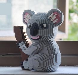Wholesale cute koala bears - Balody Cute Cartoon Koala Building Blocks 2100pcs Nano Diamond bricks tree bear and many dogs Model educational toys kids gifts