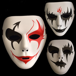 Wholesale party face paint - False Face Masquerade Hip Hop Adult Mask Hand Painted Cosplay Halloween Decor Party Product Props Masks Festival Celebrations 3 5om jj